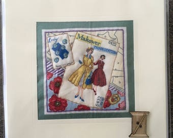 Hand Crafted Quilted Stitched Cards Birthday Thank You Thinking Of You Vintage Makeover