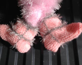Babies hand knitted booties and shoes