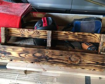 Handmade pallet wine rack.