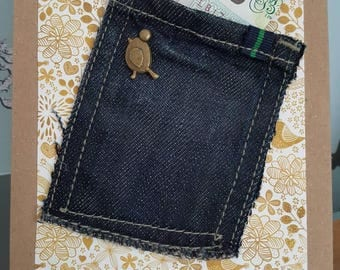 Hand crafted money card/gift card/ money wallet