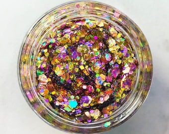 Rose Gold Glitter • Festival Glitter •  Glitter Makeup • Chunky Cosmetic Glitter | Dance - Eyes, Lips, Face | Face Paint Glitter