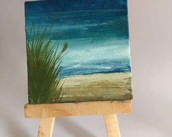 Mini Canvas Painting | Ocean Tides
