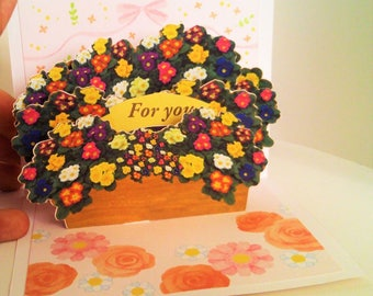 Flowers Boquet 3D Greeting Card