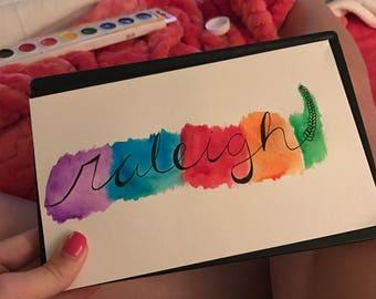 Custom calligraphy name print