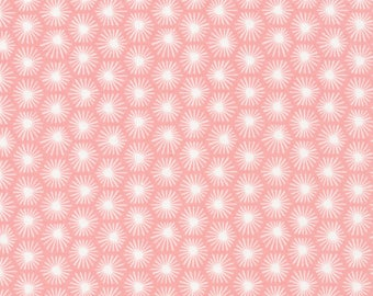 Fat Quarter Cloud 9 - Michelle Engel Bencsko - Aubade Morn's Rays Pink Organic Cotton Quilting Fabric