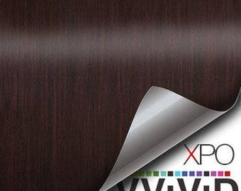 VViViD Mahogany Wood Grain Faux Finish Textured Vinyl Decal