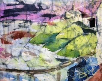 Harbour View - A high quality signed print from an original batik 30 cm x 40 cm