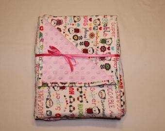 Baby girl blanket, Toddler girl blanket
