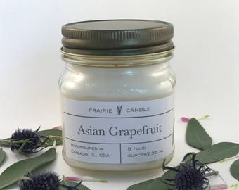 Asian Grapefruit soy candle, grapefruit candle, summer candle