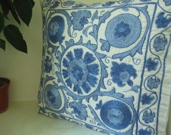 A Handmade Suzani Pillowcase from Uzbekistan. An Amazing One!
