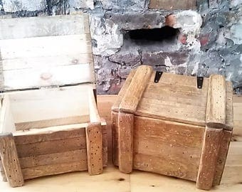 Reused Pallet Wooden Storage Boxes