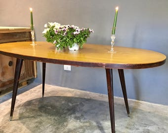 Oval Table Italian made and designed from the 1950's