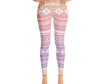 Ombre Leggings / Tribal Leggings / Aztec Leggings - Womens Leggings - Fancee Pants Co