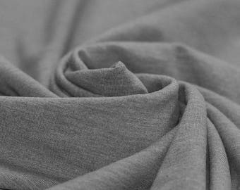Grey Melee Jersey (240gsm, 94/6 Cotton/Elastane) *UK*