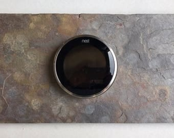 "Custom Made 6"" x 12"" Natural Slate Nest Thermostat Wall Mount Plate Trim Cover FREE SHIPPING!"