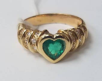 Emerald & Gold Ring