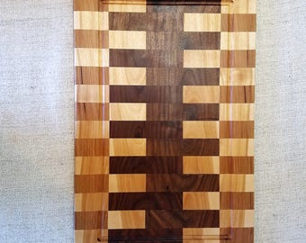 Walnut, Maple and Hickory Cutting Board