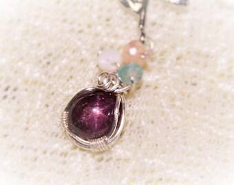 Crimson shining star earrings