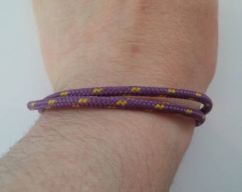 Purple cord bracelet