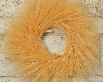 "28"" Large Wheat Wreath   Blonde Wheat Wreath   Extra Large Wreath   Wheat Wreath"