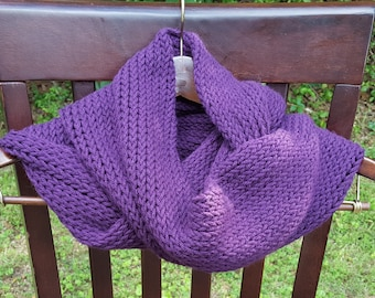 Purple Infinity Scarf