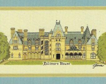 BILTMORE HOUSE Charted Cross Stitch Pattern Needlepoint Pattern