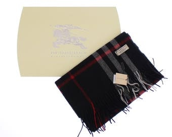 Burberry Black Classic Scarf