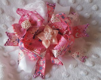 Lovely bear large boutique hair bow