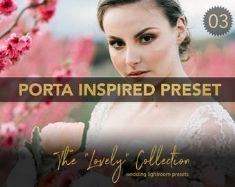 Porta Inspired Professional Wedding Lightroom preset - LVY03 - The Lovely Collection by Shae Estella Photo