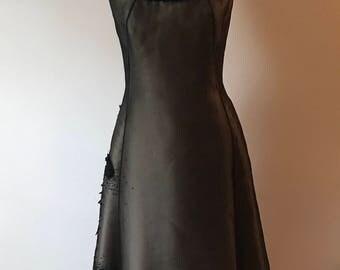 Angel Sanchez Black Evening Dress