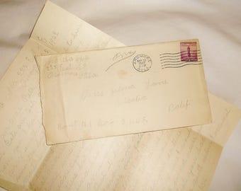 Vintage 1942 Handwritten Letter from Matha White to Zelma Lane in California