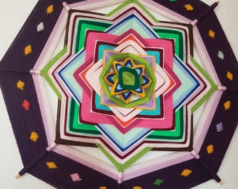 Ojo de dios mandala, God's eye 48cm
