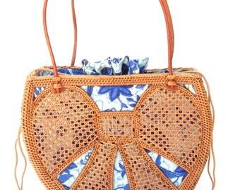 Ata Bow Handbag Handwoven