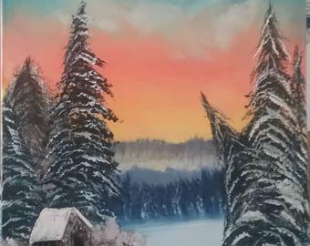 Winter Oil Landscape