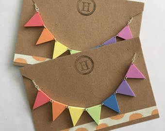 Rainbow Bunting Necklace