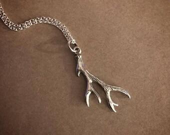 Antler Necklace - Sterling Silver