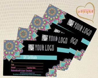 Mandala Gift Certificate, Surprise gift, Certificate,Printable Bucks,Cash, Certificate surprise,Printable Business , Pop Up Shop Cards