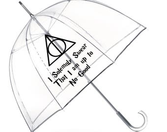 DEATHLY HALLOWS Harry Potter fan Umbrella- I Solemnly Swear I am up to No Good- Harry Potter Gift