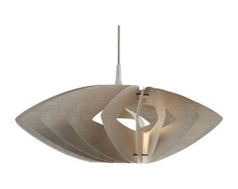 Wood pendant light Margarita Cappuccino | Modern lamp made of ultra thin birch plywood  | hanging lamp