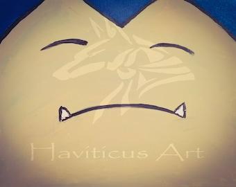 Artist Signed Pokemon Snorlax