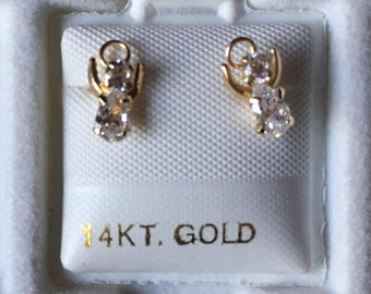14k Gold Earrings - Angels