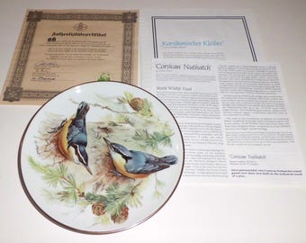 Songbirds of Europe- Nuthatch Decorative Plate by Ursula Band-Made in Germany