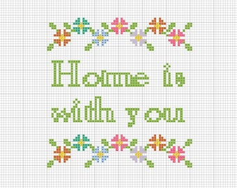 Home Is With You - PDF digital download crossstitch pattern