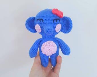 Handmade Amigurumi Blue Elephant