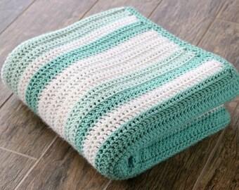 Custom Crochet Striped Afghan Blanket