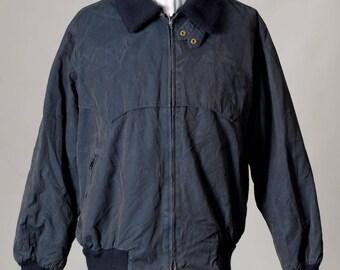 Vintage 1980's Aquascutum Dark Blue Jacket, Made in England