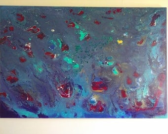 Large, Original Abstract Acrylic Painting on Canvas