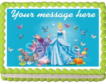 CINDERELLA Image Edible cake topper Party decoration