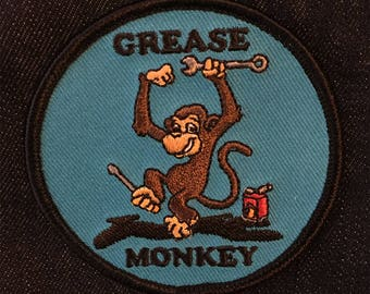 "Grease Monkey 3"" Patch"