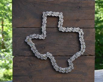 Texas bicycle chain art